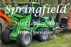 Mini Loader Hire With Operator