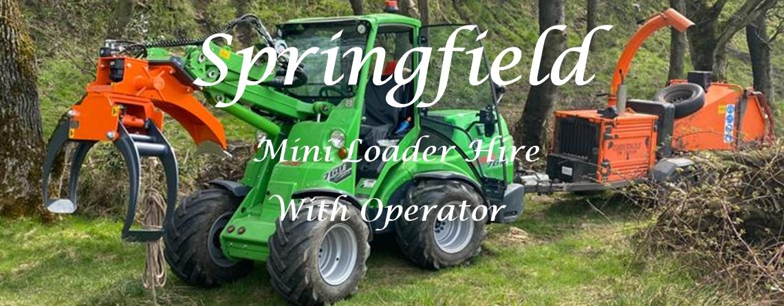 Mini Loader Hire, Springfield Tree Services